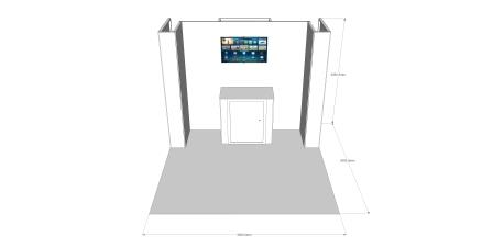 3m x 3m Stand V1 - Reconfigurable - 4