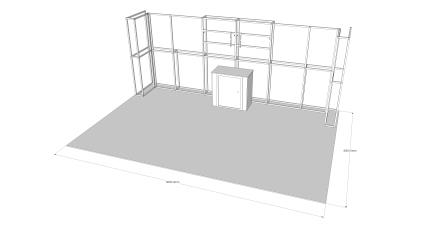 6m x 3m Stand V1 - Reconfigurable - 1