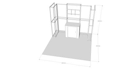 6m x 3m Stand V1 - Reconfigurable - 3