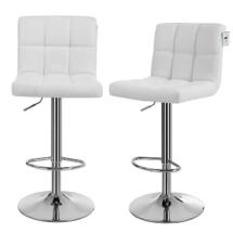 Square back white stools2