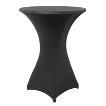 Black Covered Cocktail Table