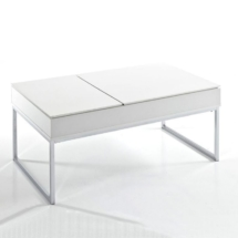 Hinged Coffee Table White Closed - White Background
