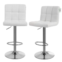 Square back white stools2