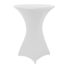 White Covered Coctail Table