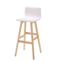 White Stool, Wooden Frame